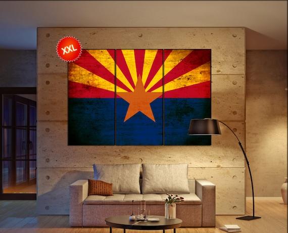 Arizona state flag  canvas Arizona state flag wall decoration Arizona state flag canvas art Arizona state flag large canvas