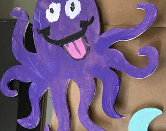 Purple Octopus Painting