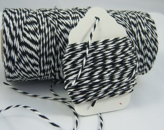 Bakers Twine - The Twinery - 100% Cotton  - One Color - Charcoal Black Twist - Your Choice of Length