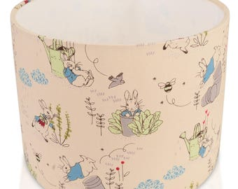 Beatrix Potter Peter Rabbit Cylinder / Drum Lampshade