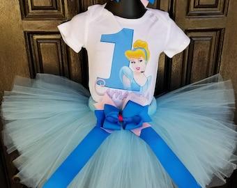 Hand made Cinderella birthday tutu