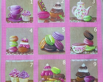 1 card textile to choose from 9 images of sweets