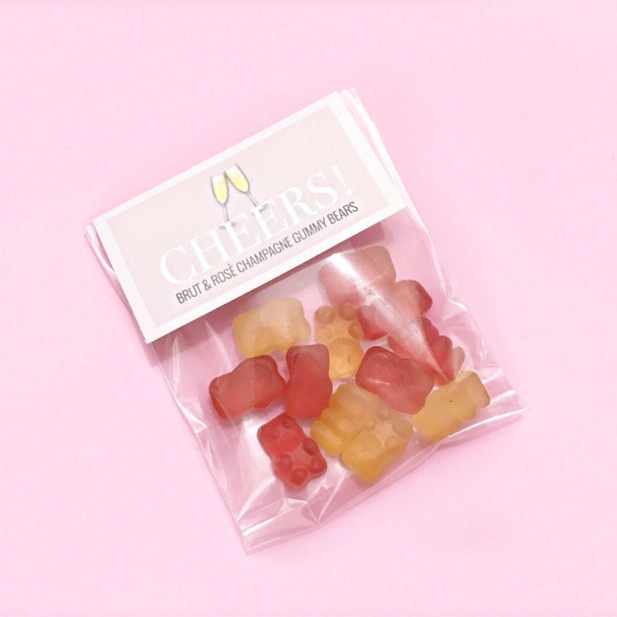 XL Champagne Gummy Bears Rose Brut Flavored Party Favors