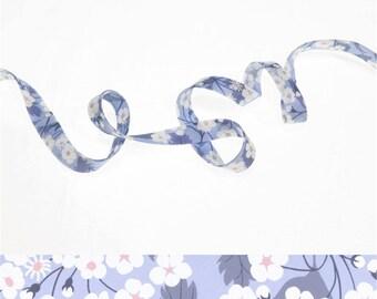25 cm of bias Liberty Mitsi blue hyacinth, Ribbon, cord for bracelets...