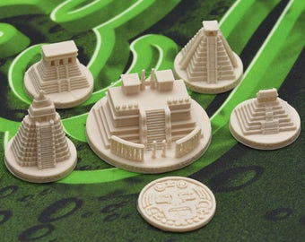 Piramids and token for Tzolkin