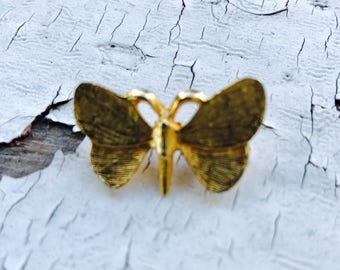 Vintage-Butterfly-Pin-Brooch-Gold-Tiny-Gift-Mom-Vintage Reclaim