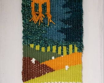 Wall Hanging Tapestry Weaving 'Rolling Hills'