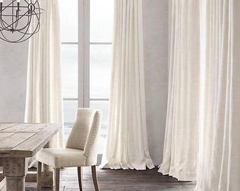 Beautiful Linen 100 Curtains Panel Bedrooms Living Rooms Dining Window Treatments