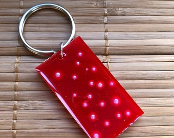 Red & Pearls Keychain