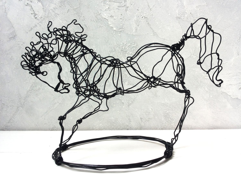 Horse sculpture Home Decor Wire Decor Wire horse Wire Art