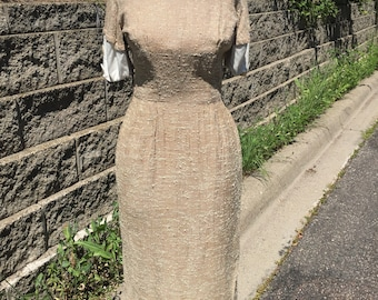 Cotton tweed 1960's secretary dress