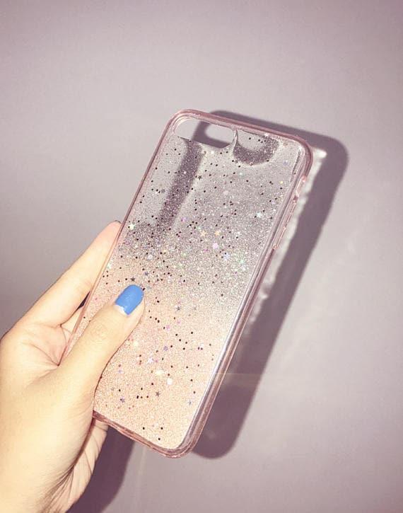 rose gold glitter iphone 8 case
