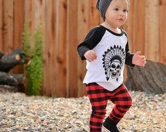 Red & Black Buffalo Plaid Baby Leggings - Baby Boy Leggings - Toddler Pants - Baby Pants - Baby Joggers - Toddler Leggings - Kids Leggings