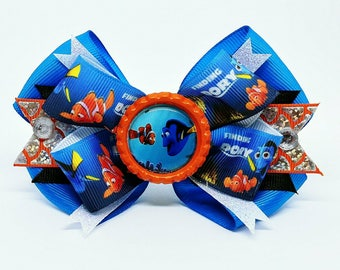 Disney Finding Nemo Dory Ocean Aquarium Hair Bow Headband Turtle Clown Fish