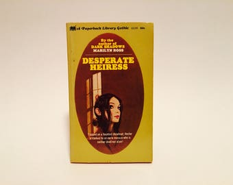 Vintage Gothic Romance Book Desperate Heiress by Marilyn Ross 1970 Paperback