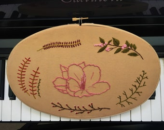 Meadow Embroidery (oval)