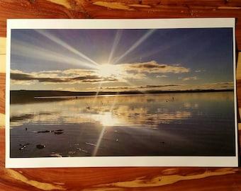 Sunbeam Lake, beams of light over the Great Sagandaga Lake