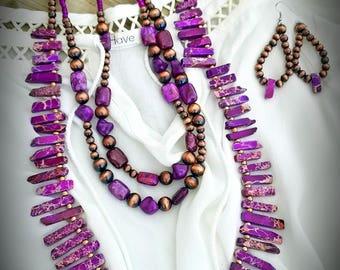 Purple Jasper 3 piece set