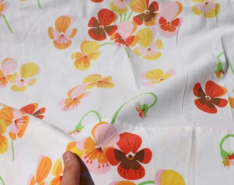 Pansy Flower Sheets Twin