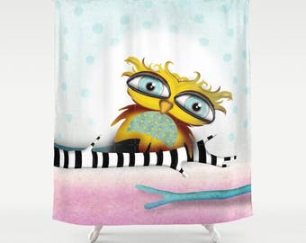 Owls Shower Curtains - Choose between Two owls shower curtain or Owl alone shower curtain , maybe you will love Baby Owl Shower curtain :D