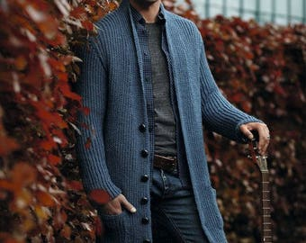 Man's knitted cardigan