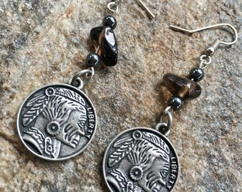 Native American Coin Earrings