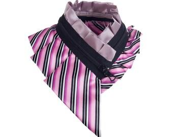 Collar necklace, unique accessory, zipper collar, silk collar, only one piece #192