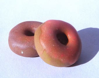 Miniature Polymer Clay Frosted Donuts