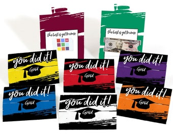 Assorted Best is Yet to Come - Graduation Party Money Holder Cards - Graduation Party Gift Card Holders  - Envelopes Included - Set of 8