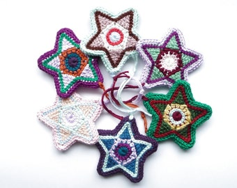 New Years Eve Decorations CROCHET PATTERN Star Decor Christmas Star Ornament Star Decoration Rearview Mirror Accessories Car Charm Ornament