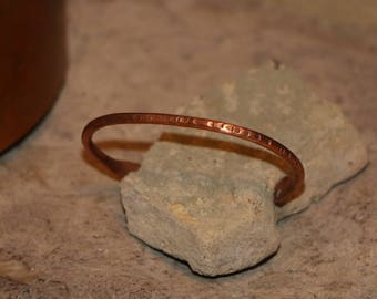 Hand Forged Copper Cuff Bracelet