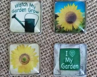 Love My Garden Magnet - Gardening Magnets - Refrigerator Magnets - Sunflower Magnets - Birthday Gift - Garden Lover Gift