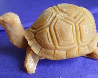 Turtle with natural beeswax candle