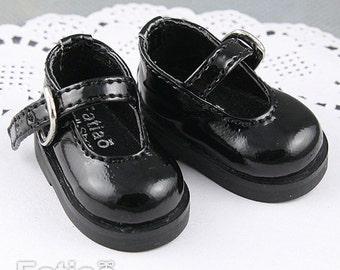 Fatiao - New Dollfie Yo-SD Mary Jane 1/6 BJD Doll Shoes - Black (Size 4.2cm)