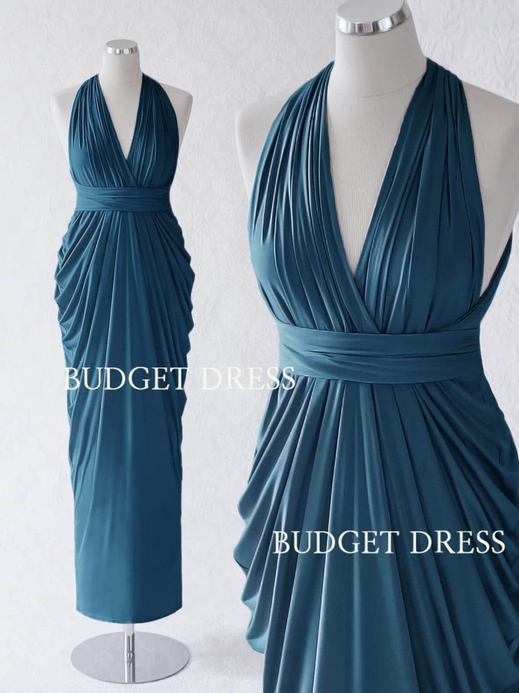 Ocean Blue Transformer Dresses Infinity Long Bridesmaid