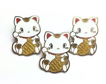 Hard Enamel Lucky Cat Pin