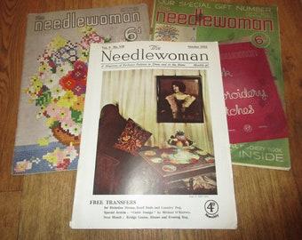 3 X Vintage 1930s THE NEEDLEWOMAN Magazines