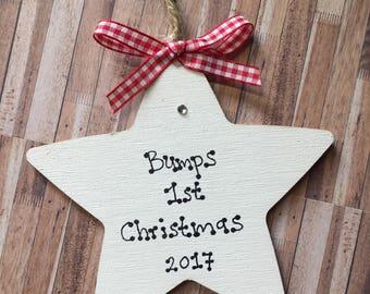 Bumps 1st first Christmas decoration star babies first Christmas xmas keepsake