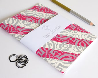 Notebook Screenprinted Obliques
