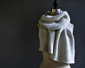 Oversize Crochet Scarf, Long Crochet Scarf, Chunky Infinity Scarf, Over sized Crochet Scarf,  Long Scarf, Oatmeal Infinity Scarf.