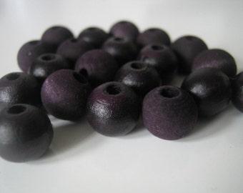 Dark Cherry Hand Dyed Wood Beads, Jewelry Supplies, General Crafts