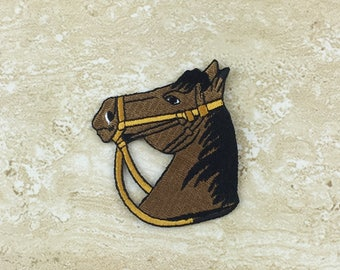 Horse Badge Iron On Patch