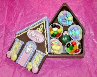 Chocolate Easter Cottage edible box