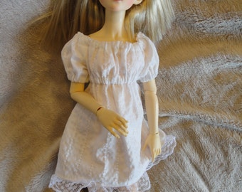 MSD BJD  Chemise Dress and Bloomers White