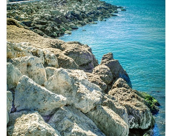 Caribbean Shoreline - Art & collectible photo Giclee prints for home decor or gift suggestion for any occasion.