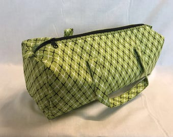 Luxury Knitting Bag Craft Bag Gift Hobby Sewing - Lime Green/Black Design