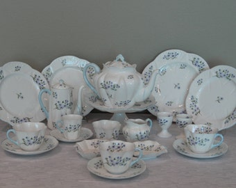 SALE-Shelley Bluerock tea and coffee set-Was USD742
