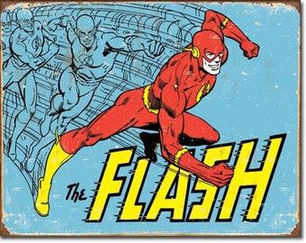"""Tin Sign """" The Flash DC Comics """" 12""""x16"""" Man Cave"""