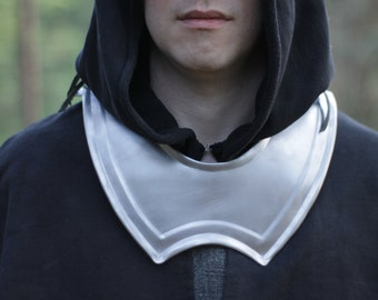 Gorget - steel gorget - larp armor - cosplay - metal gorget - larp protection