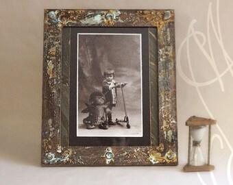 "Steampunk Frame with a strange photography by martinefa -  ""Fégrelo"""